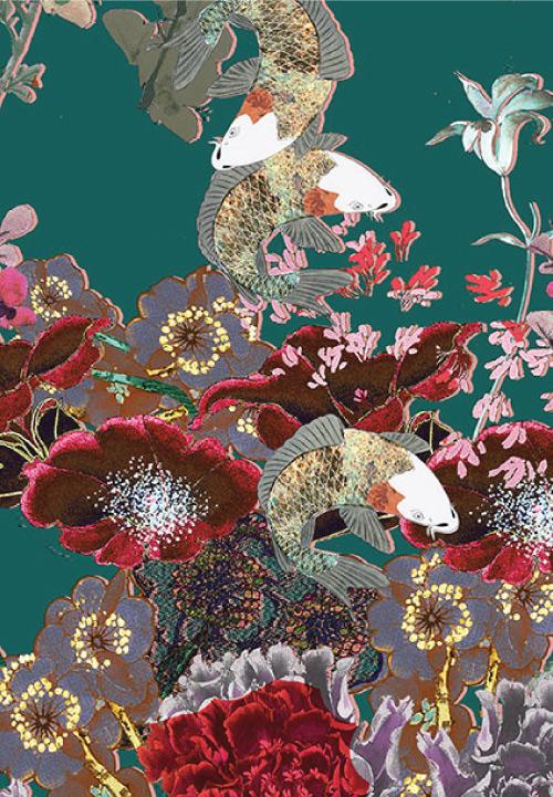 Meng-Womenswear--luxury-Loungewear-print-flowers-green-red-LP.jpg