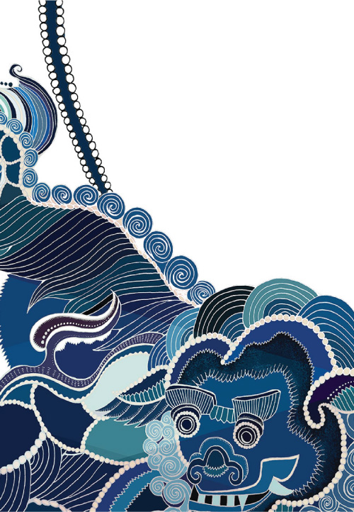 Meng-fashion-interior-zodiac-deer-dragon-animal-painted-handdrawn-watercolour-symbols-blue-navy-white-prints-details2.jpg