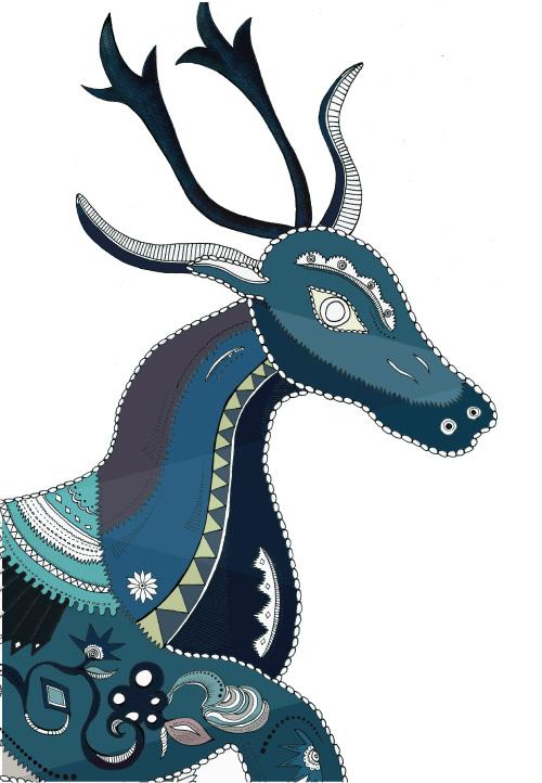 Meng-fashion-interior-zodiac-deer-dragon-animal-painted-handdrawn-watercolour-symbols-blue-navy-white-prints-details4.jpg