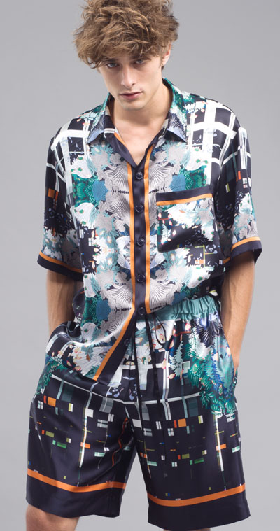 MENG Cool Artistry Printed Shorts and Shirt