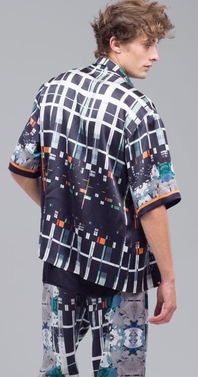 MENG Cool Artistry Printed Shorts and Shirt Bold Pattern