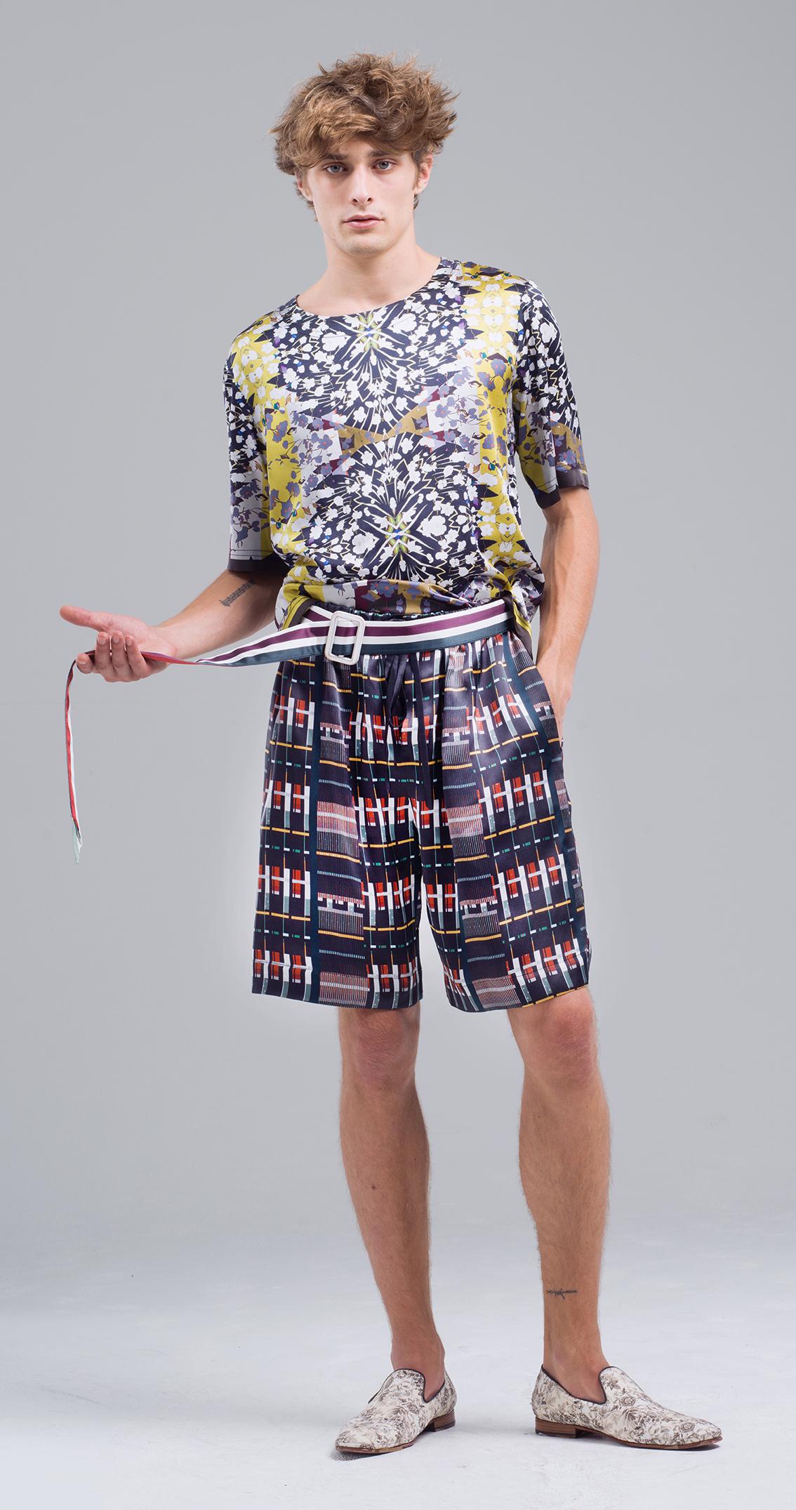 Meng-Loungewear-menswear-luxury-printed-silk-tshirt-shorts-geometric- checks-black-yellow-red6-fashion.jpg