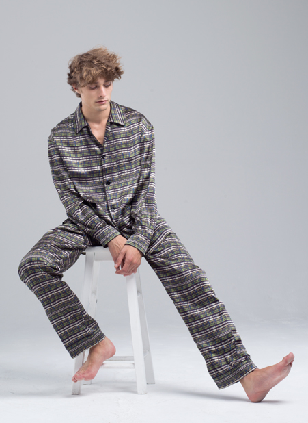 MENG Menswear Illuminated Shadows Geometric Pyjama Set