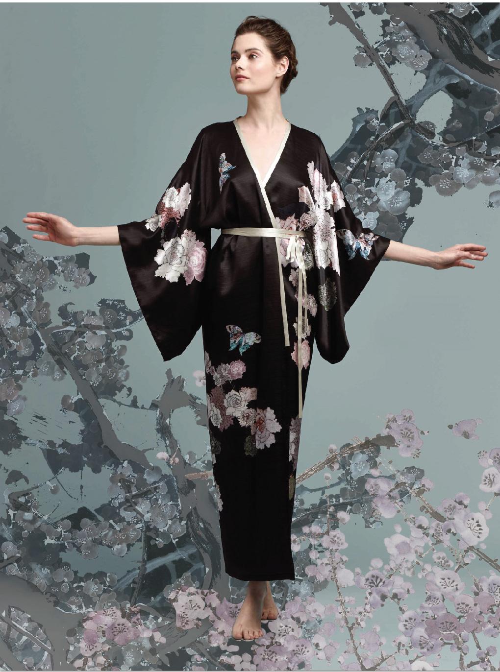 Meng-loungewear-luxury-womenswear-silk-prints-fashion-kimono-handdrawn-bloom-blossom-floral-butterfly-black-pink7.jpg