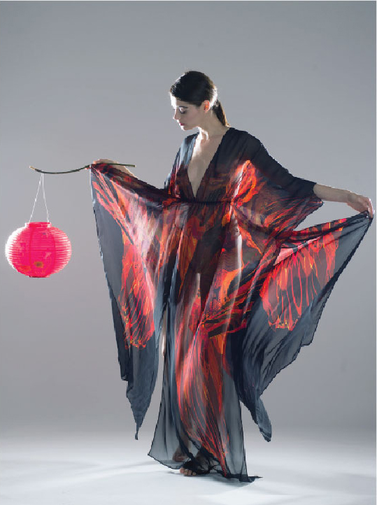 Fire Dragon Kaftan & Lantern