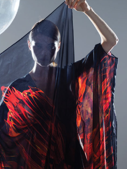 Fire Dragon & Waterfall Project Close up of Fire Kaftan