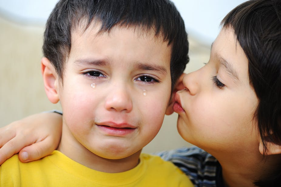 It takes a while, but most children develop empathy easily. Zurijeta/Shutterstock