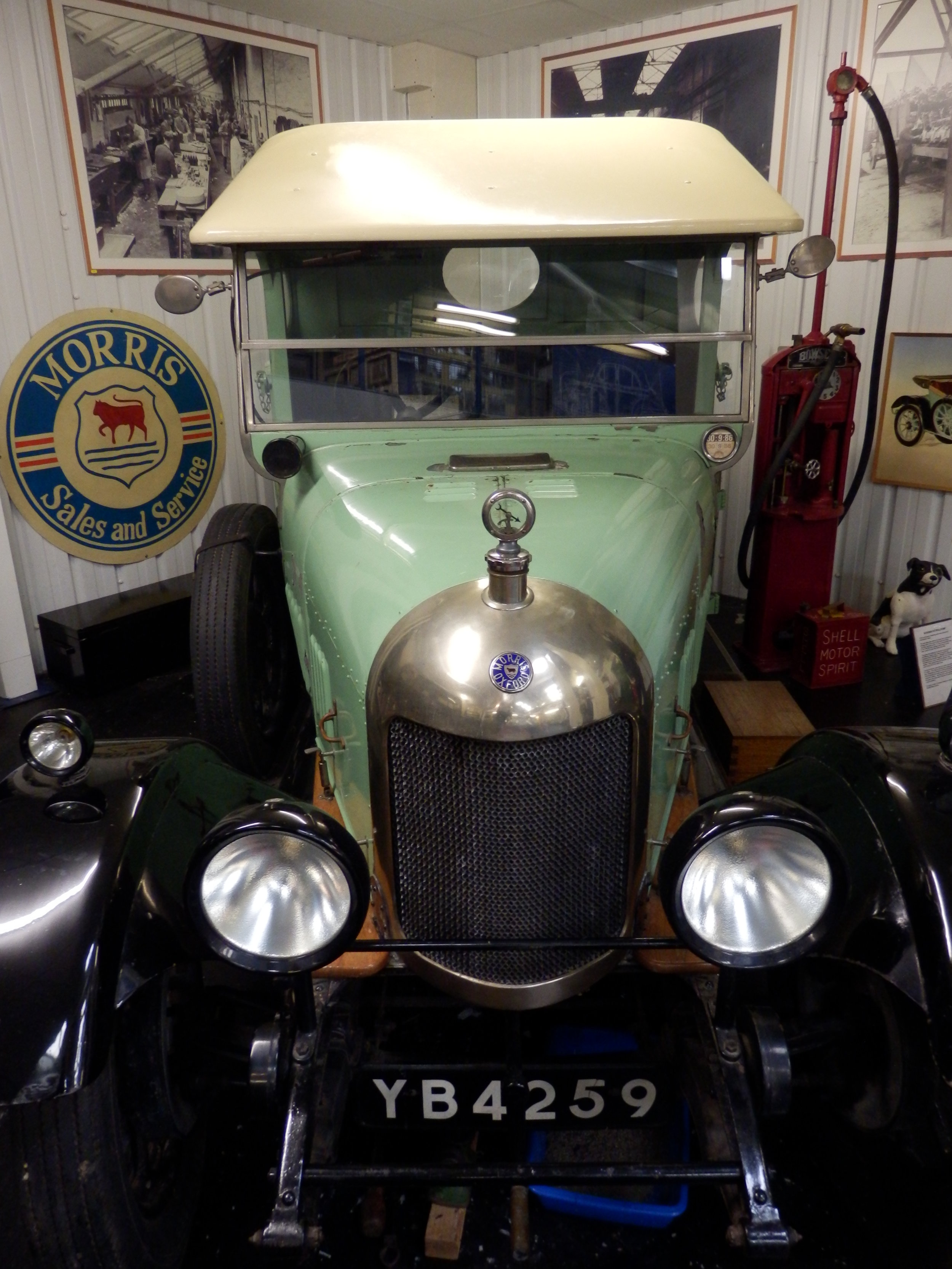 Rare survivor - A 'Bullnose' Morris Oxford truck at the museum.