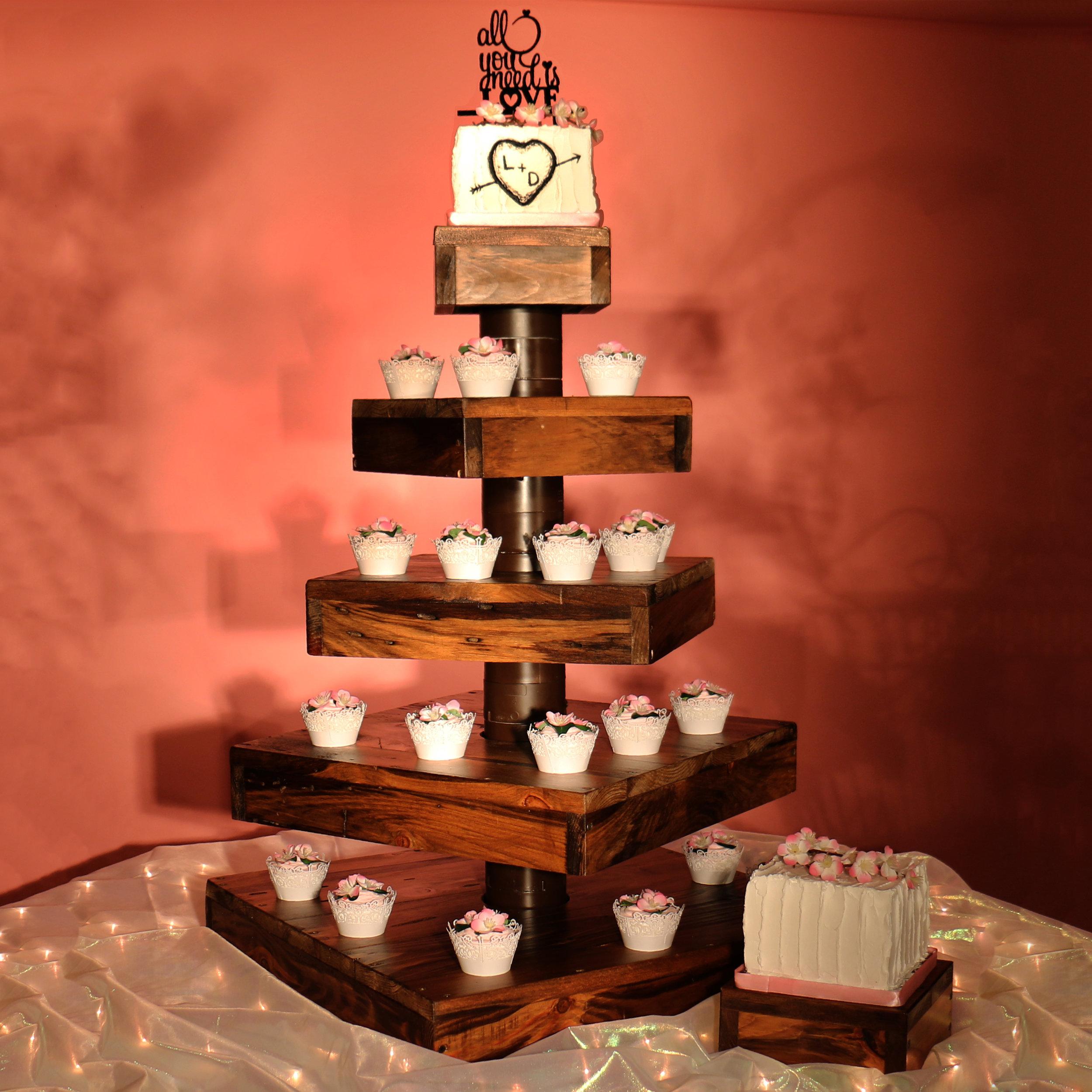 Rustic Cupcake Castles