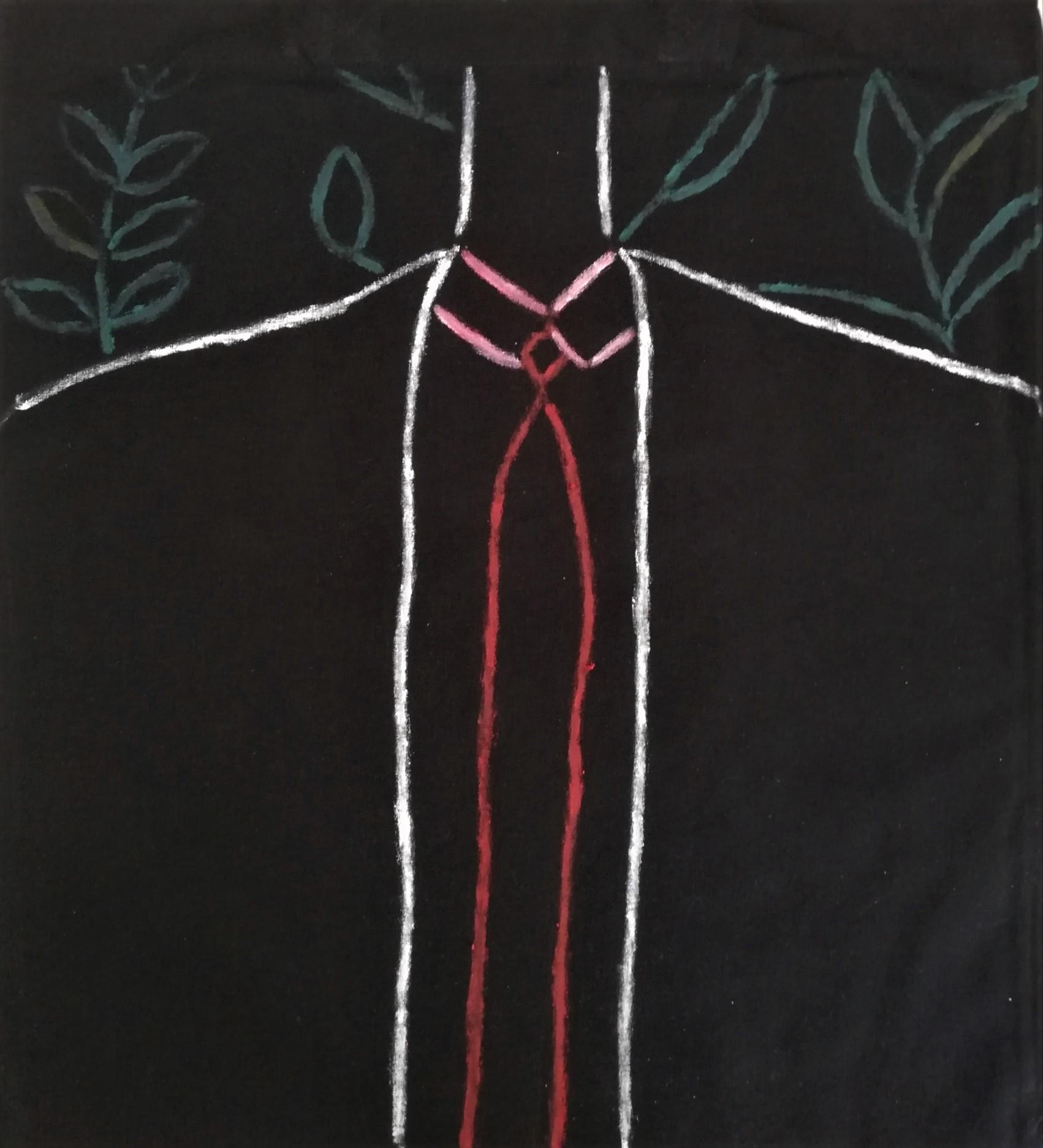 Emanuela Di Filippo  Handpainted Fabric Man Spring/Summer 2019 Hanpainted Tote bag Cotton 38cm X 42 cm X 70cm 2019