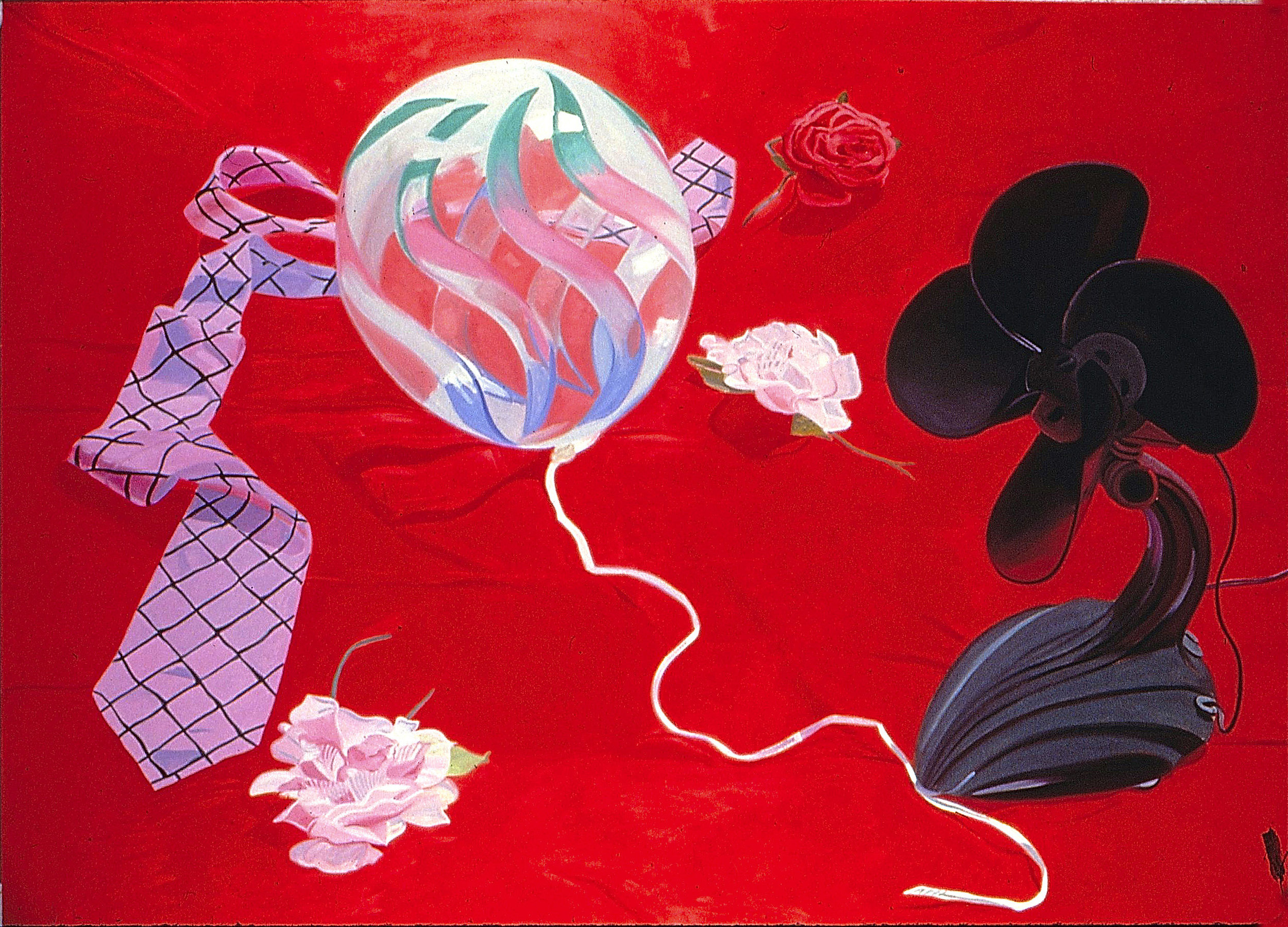 "Red Fantasy  oil on canvas 60 x 90"" 1982"