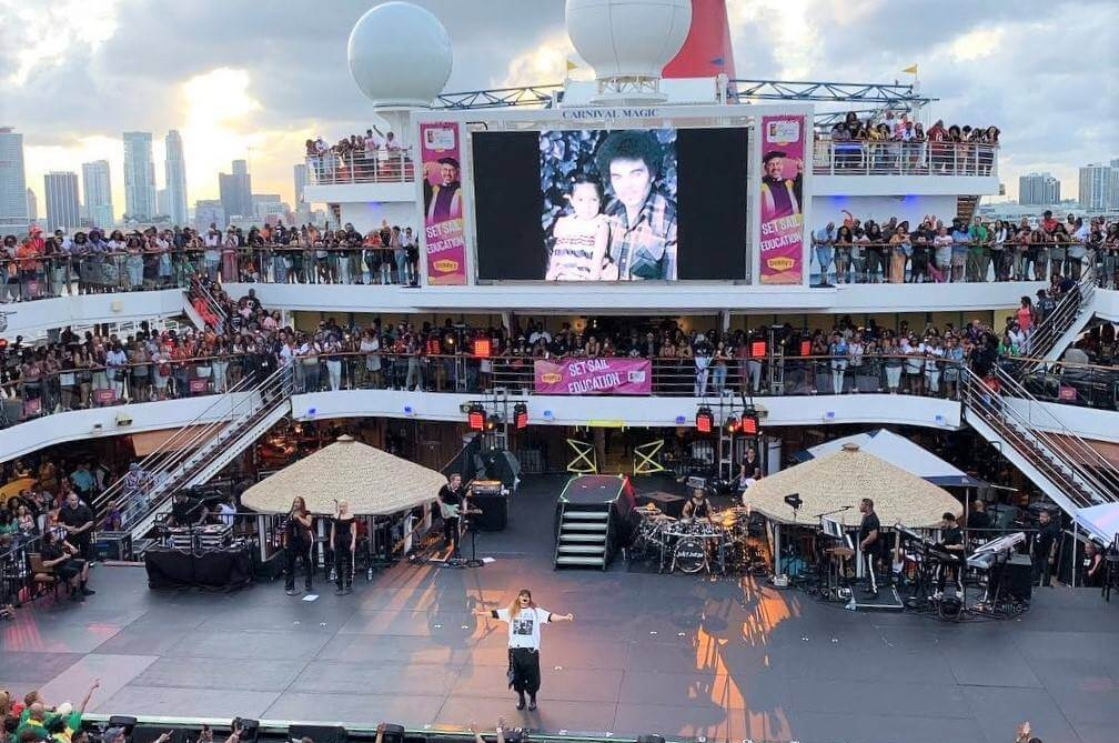 20th annual Tom Joyner Foundation Voyage Cruise, 2019  - Stage 64x24x4 - 2 sets of Stairs & Guardrails