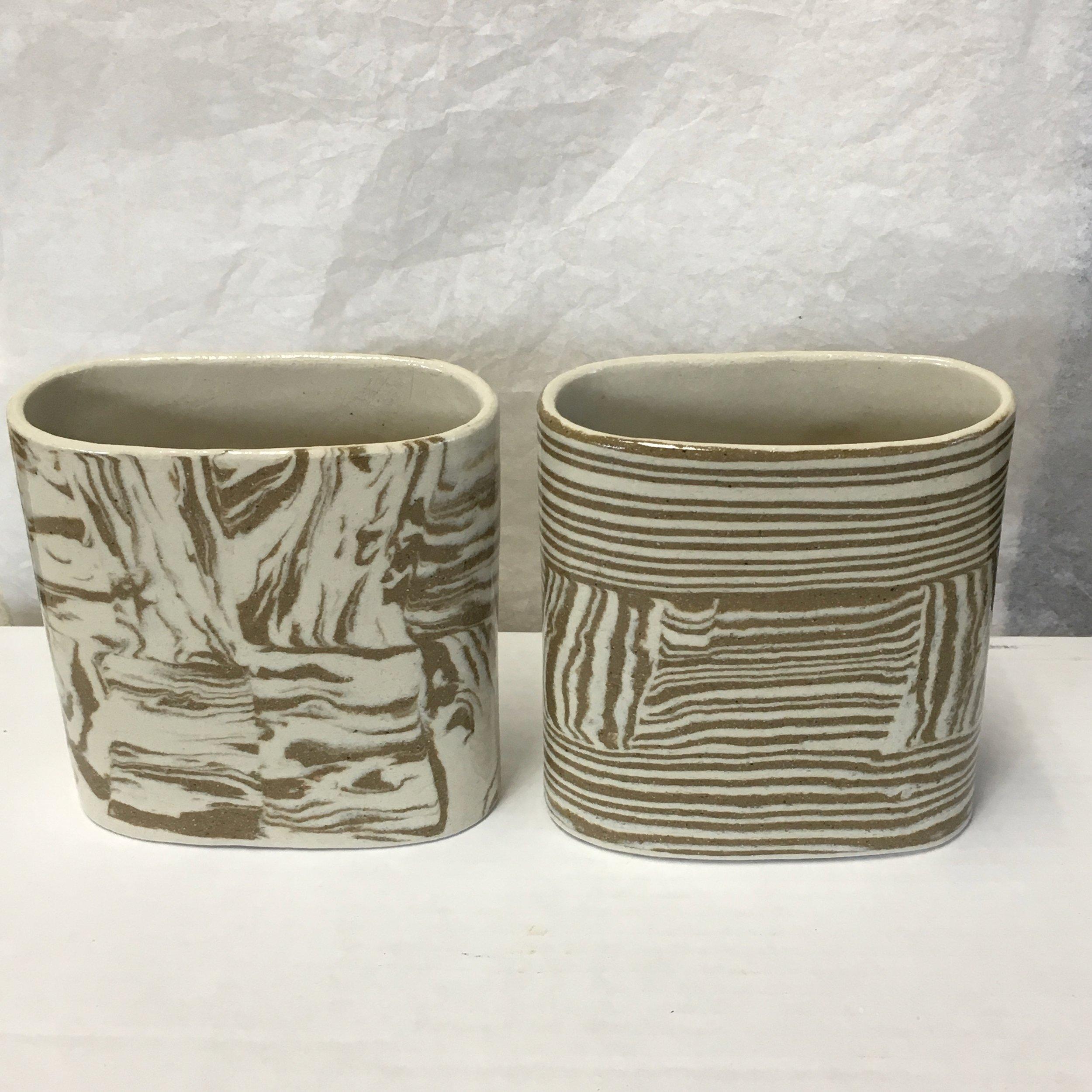 Nerikomi Pottery - layered clay, hand built, mid range stoneware
