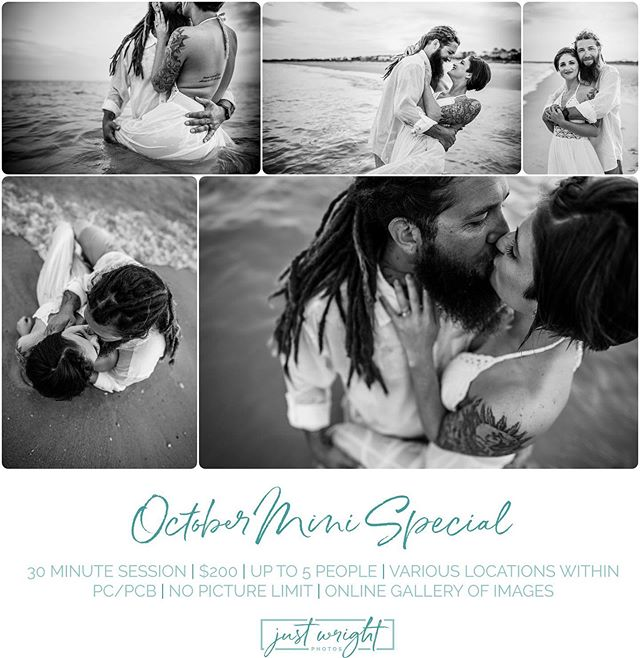 It's MINI time!! All October long 👏🏻👏🏻 Comment or DM us if you'd like to get on our calendar! We'd love to capture your memories 🥰