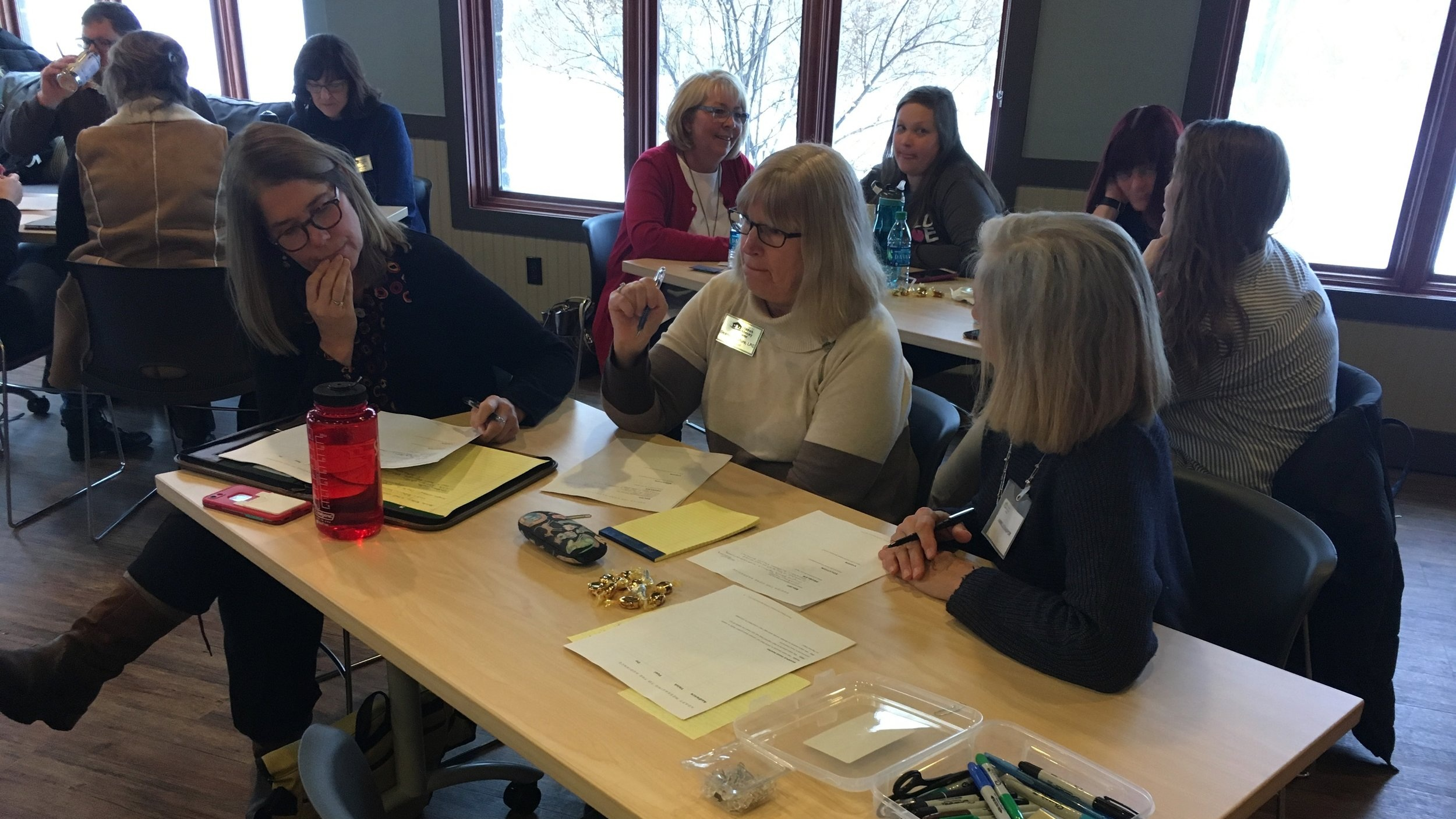 Participants were given ample time to compose their stories before receiving feedback from the group.