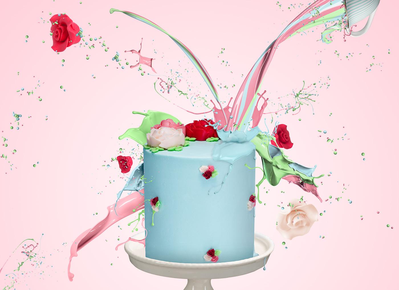 Icing Cake Splash