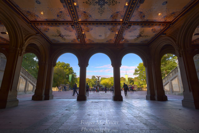 Bethesda Terrace & Fountain , New York, city central park urban manhatten