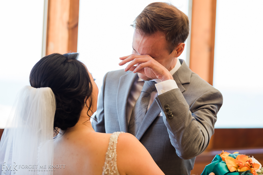 For me, I don't think it gets better than an emotional groom.