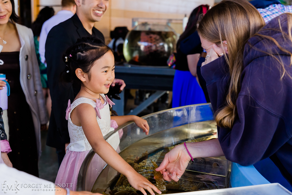 After the ceremony the institute opened their touch tanks to get a hands on experience with starfish and the like…
