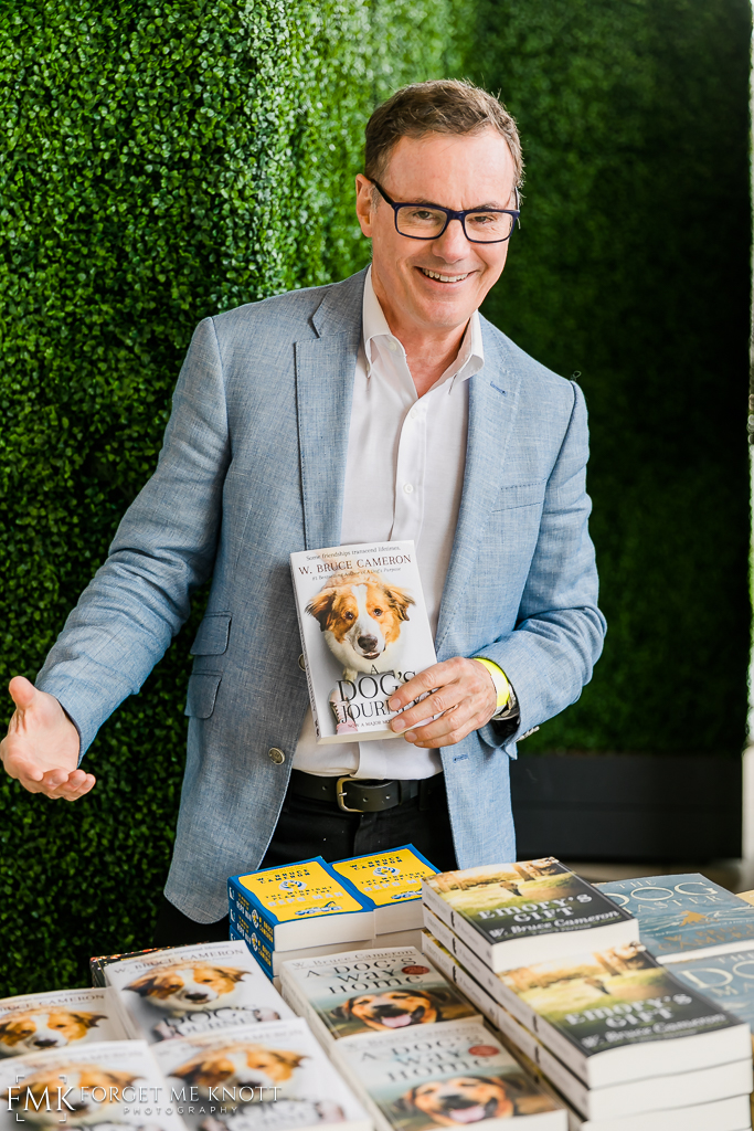 Author of A Dog's Purpose, A Dog's Way Home & A Dog's Journey, W Bruce Cameron, was on hand signing books.