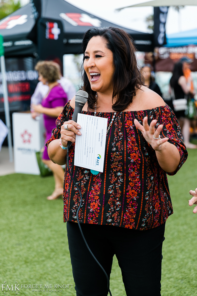 Lynette Romero from Ktla was this year's Pooch Pageant host.
