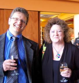 Peter and me at Literary Cocktails at the Faculty Club, UofA, April 2014. Photo by Cathie Crooks