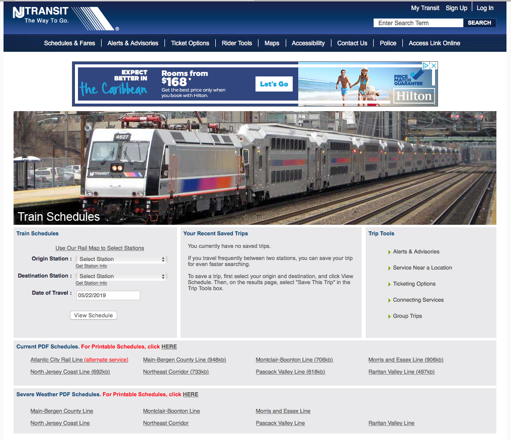 View Schedule - NJ Transit