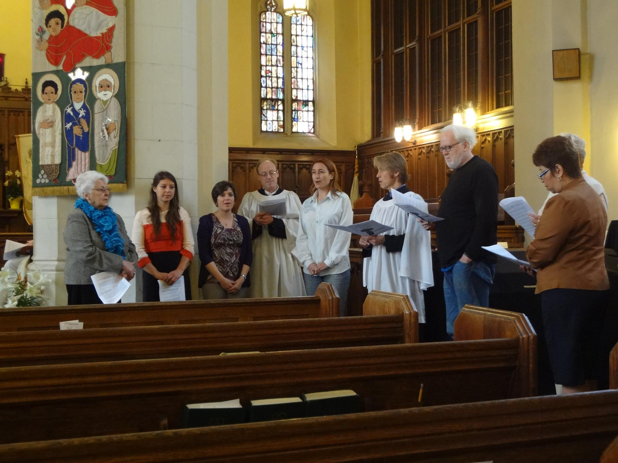 Israel trip participants sing tradtional Jewish Memorial song.jpg
