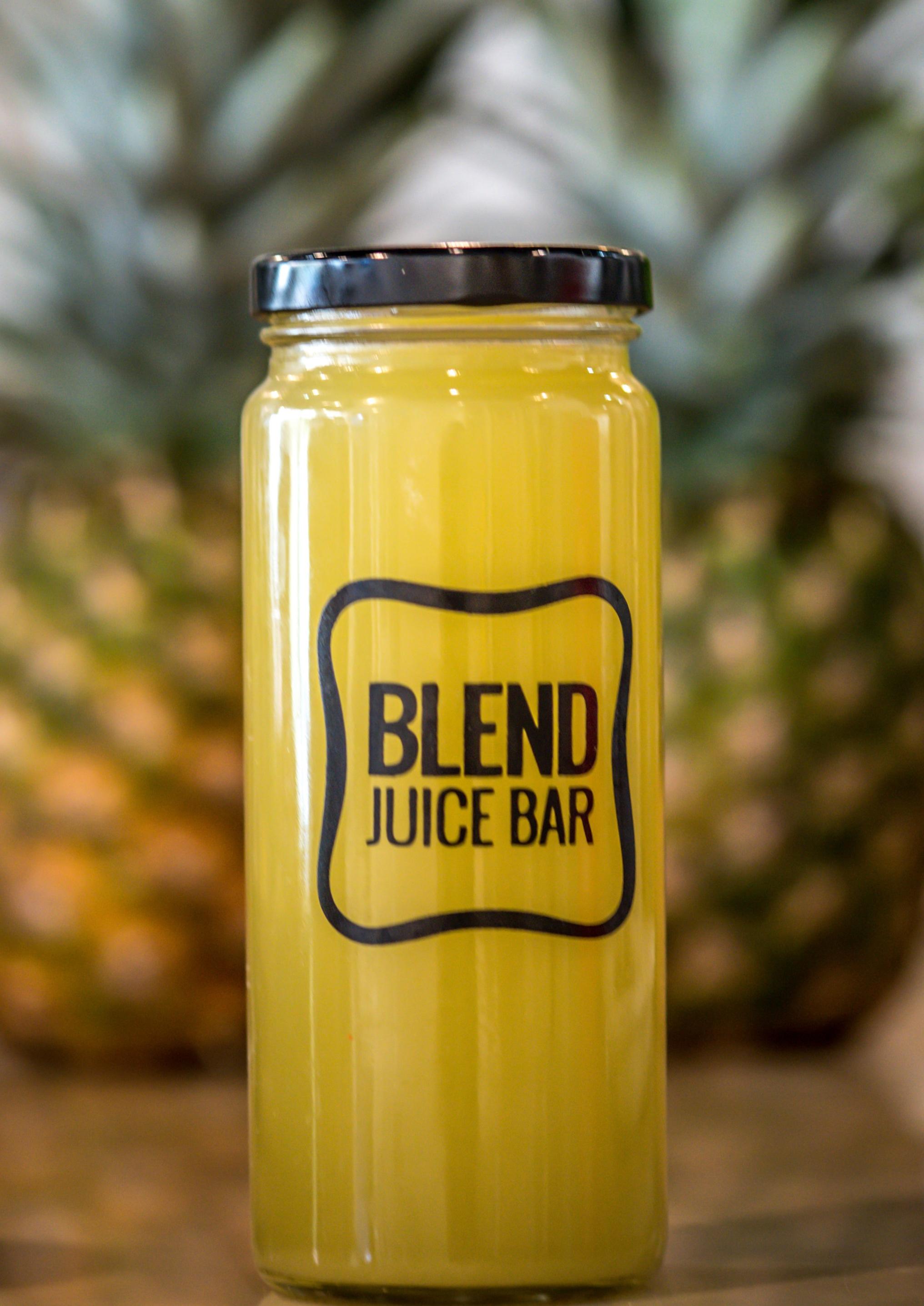 """""""Gold Juice'"""" Pineapple, Mint, Lemon, Ginger, Apple"""