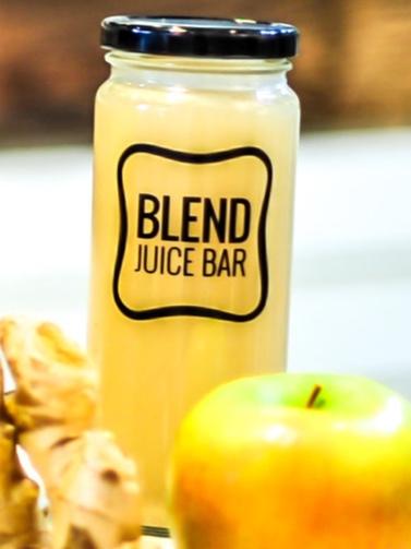 """Yellow Juice"" Lemon, Ginger, Alkaline H2O, Agave, Cayenne Pepper"