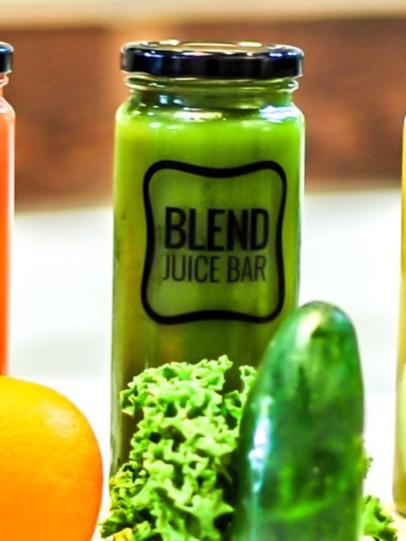 """Juice Lee"" Kale, Romaine, Spinach, Orange, Cucumber, Celery, Ginger, Lemon, Apple, Parsley, Jalapeño"