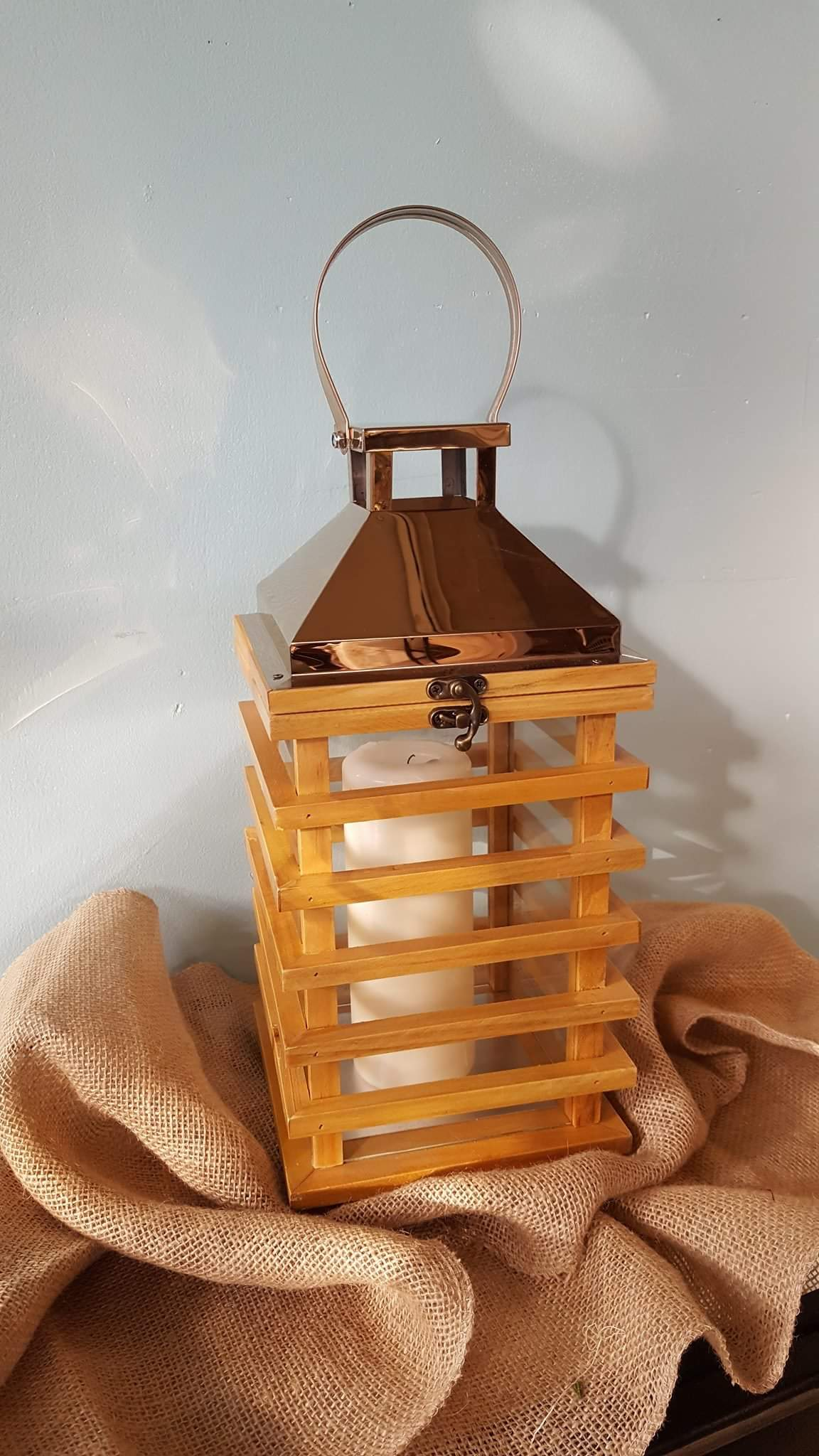 Copper/Rose Gold Lantern