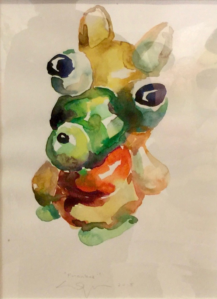 Peter Opheim   Frankie   2018  Watercolor on paper  Signed, titled, and dated by the artist in pencil  Sheet: 16 x 12 inches  Framed: 17 x 13 inches