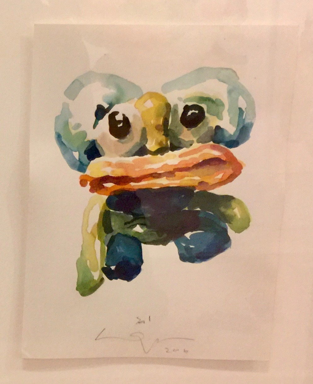 Peter Opheim   Sal   2016  Watercolor on paper  Signed, titled, and dated by the artist in pencil  Sheet: 12 x 9 inches  Framed: 18 x 15 inches