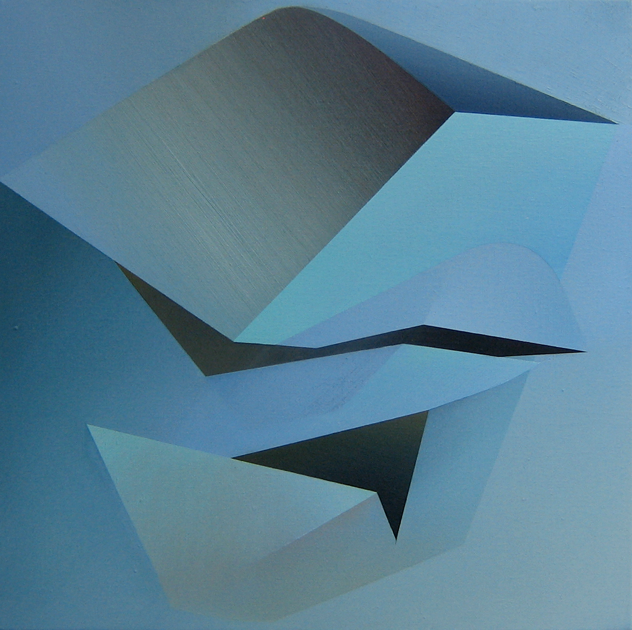 Larissa Tokmakova   Interstices X   2010  Oil on linen  Signed by the artist,  verso   24 x 24 inches