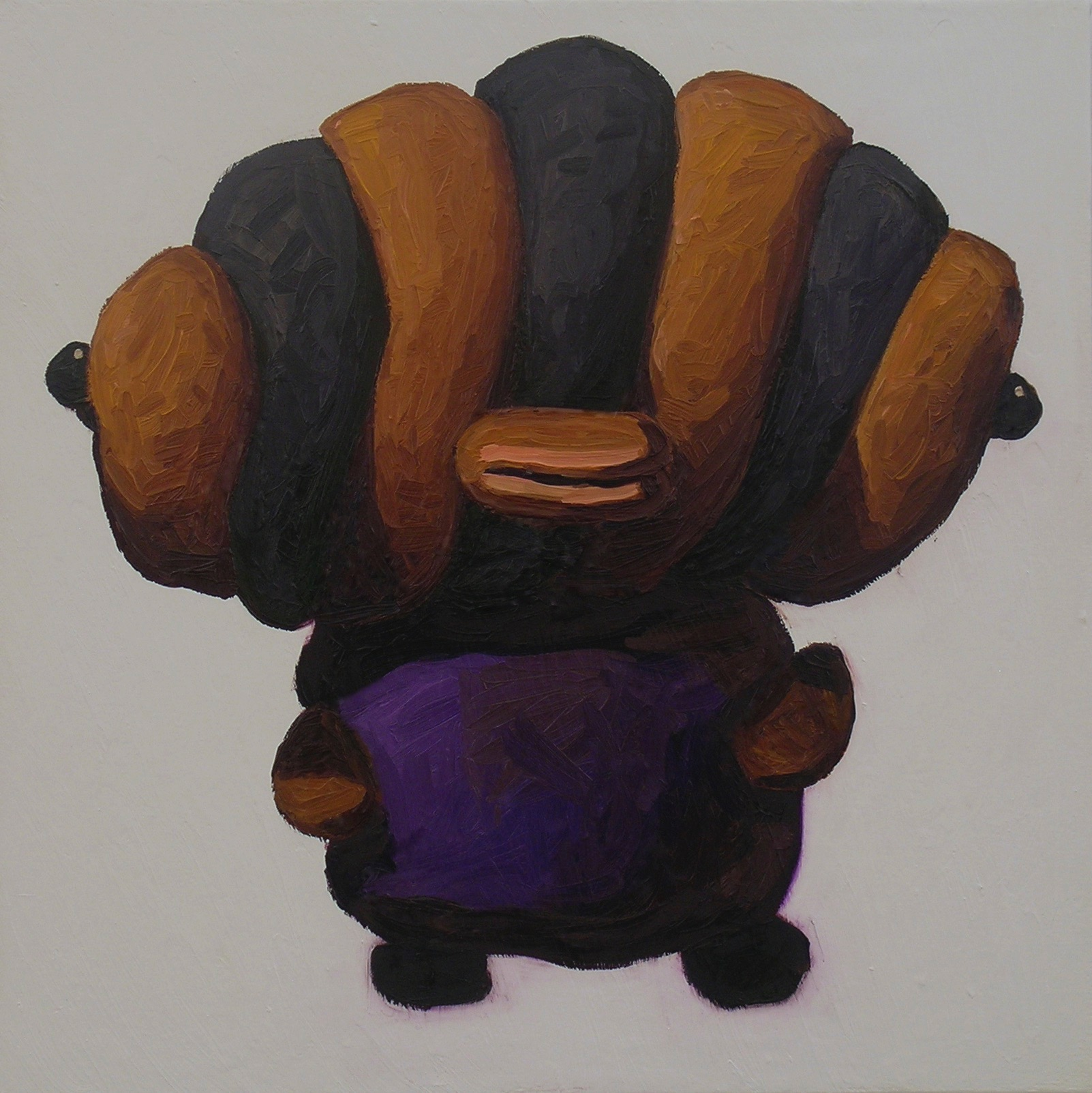 Peter Opheim   Croissant Boy   2013  Oil on canvas  Signed, titled, and dated by the artist,  verso   22 x 22 inches