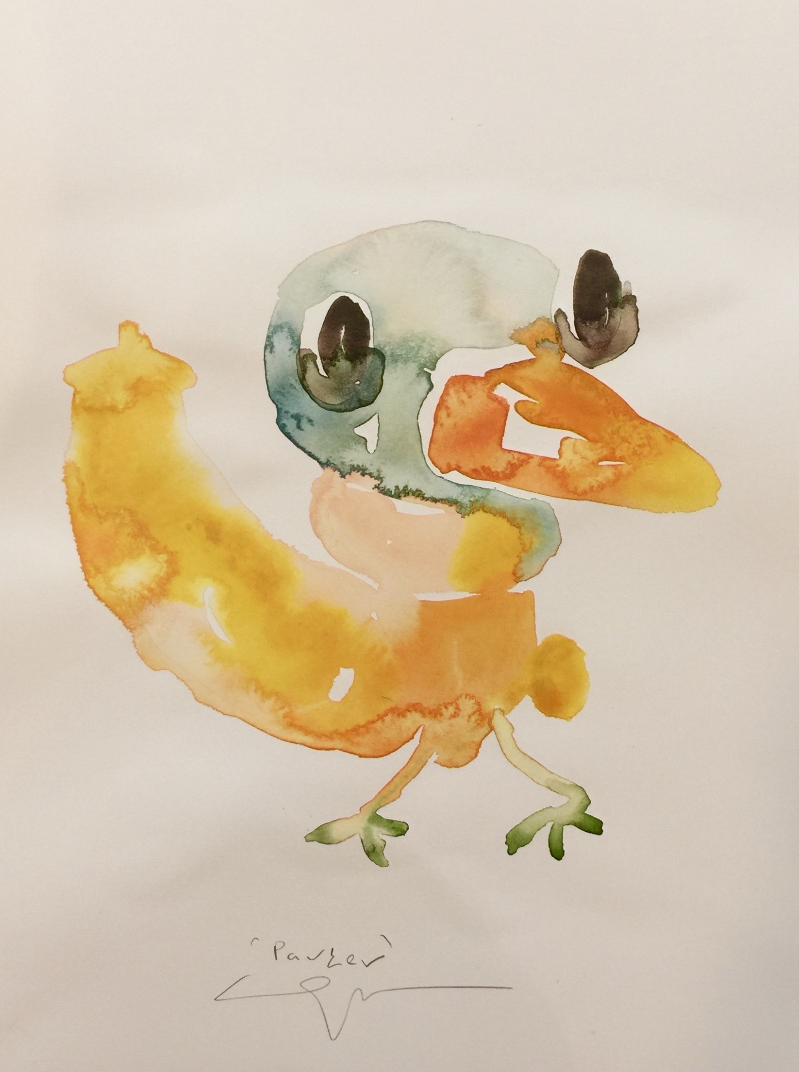 Peter Opheim   Parker   2019  Watercolor on paper  Signed and titled by the artist in pencil  Sheet: 16 x 12 inches  Framed: 17 x 13 inches