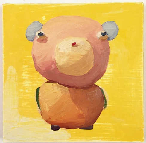 Peter Opheim     Untitled (on yello w)   2018  Oil on panel  Signed and dated by the artist,  verso   8 x 8 inches