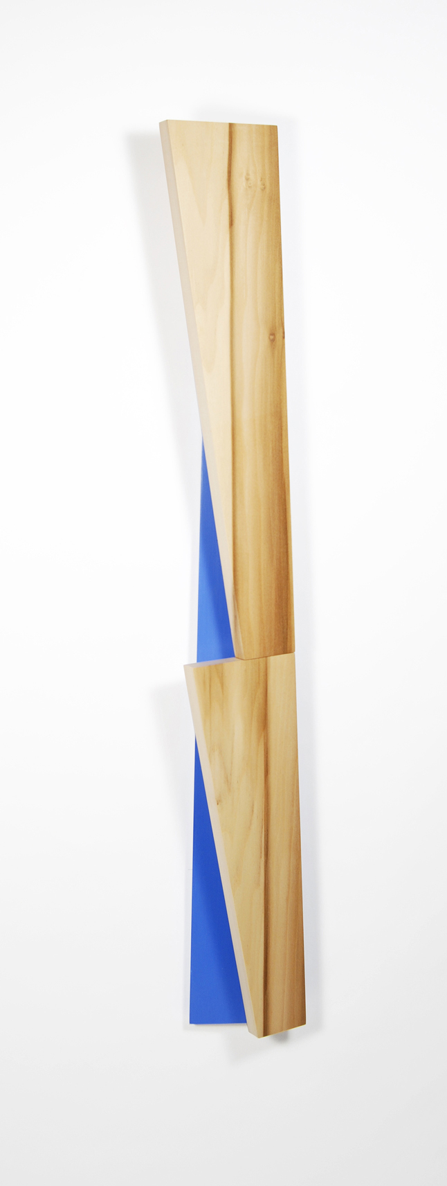 Richard Bottwin   Poplar Beam.2   2018  Poplar and acrylic paint on birch plywood  Signed and dated by the artist,  verso   35 x 4.5 x 3.5 inches