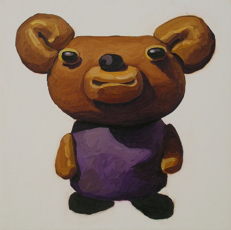 Peter Opheim   Brown Mouse   2013  Oil on canvas  Signed, titled, and dated by the artist,  verso   22 x 22 inches
