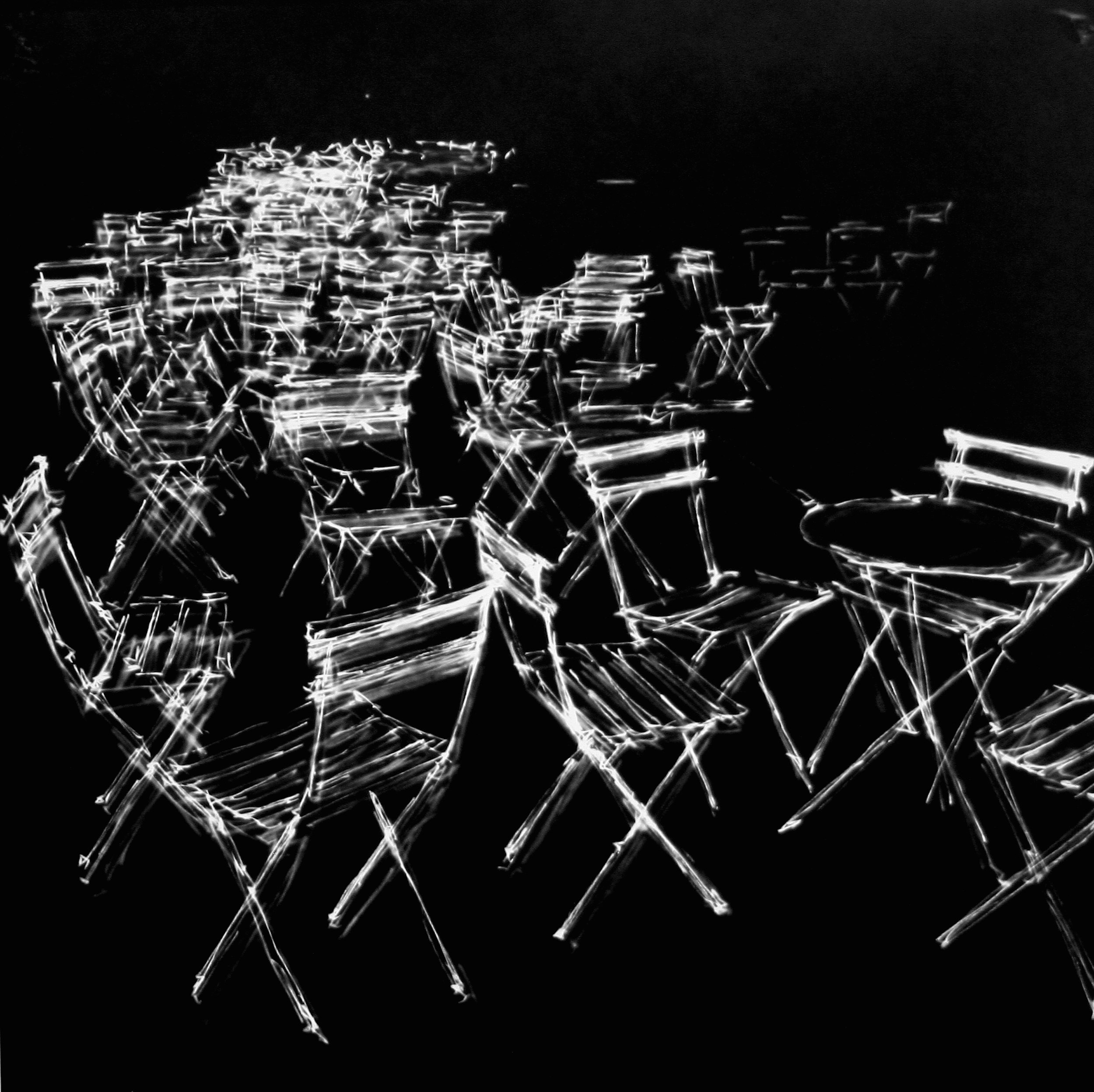 Helen Dennis   Take A Seat   2014  Photographic drawing dry mounted on plexiglass  Signed, titled, and dated by the artist,  verso   34 x 34 inches