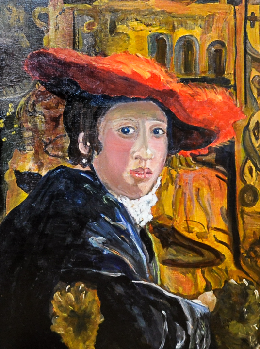 Homage to Vermeer: Girl with a Red Hat