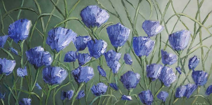 """""""Paper Flowers II"""" Oil painting by Susan Coppola"""