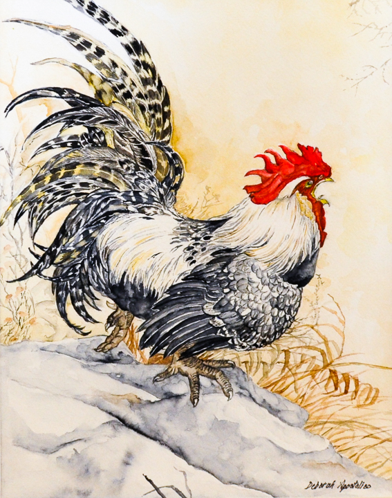 """""""Feathers"""" watercolor painting by Deborah Apostolico"""