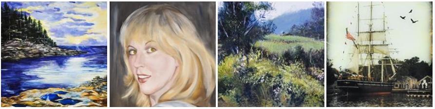 Details of artwork by:    Deborah Apostolico   ,    Molly Barnes   ,    Nancy Fischer   , and Ron Blanchard