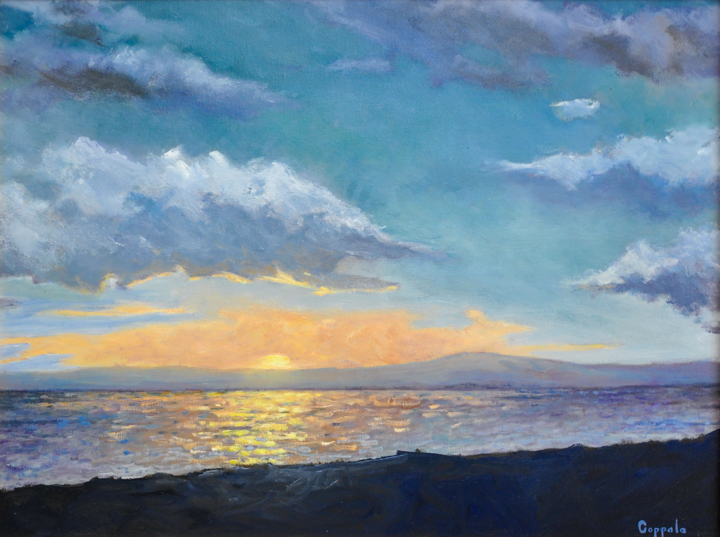 """Sunset"" oil painting by Susan Coppola"