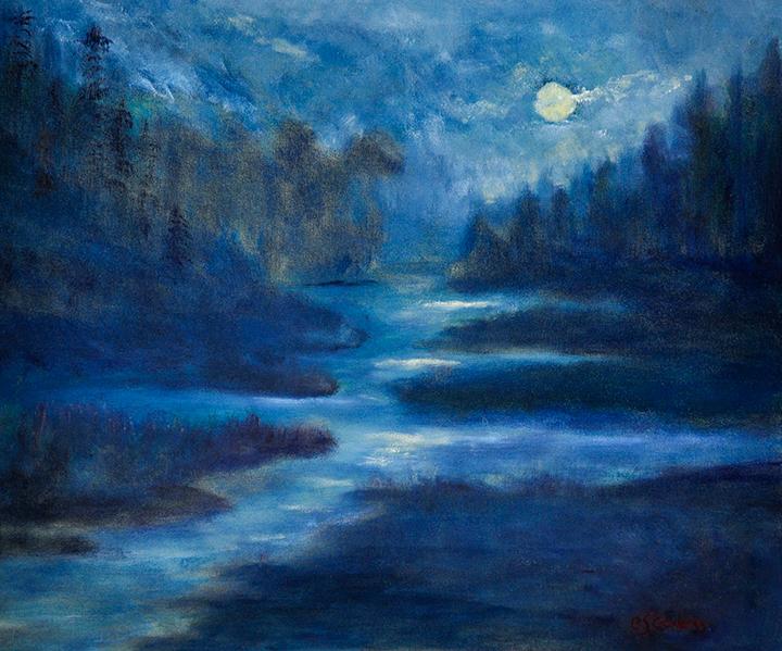 """""""Moonrise"""" oil"""