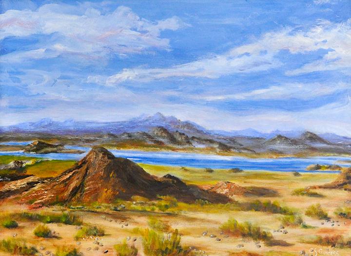 """""""Southwest Spring"""" acrylic"""