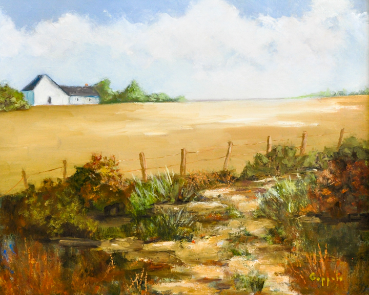 """""""Old Country Road"""" oil"""