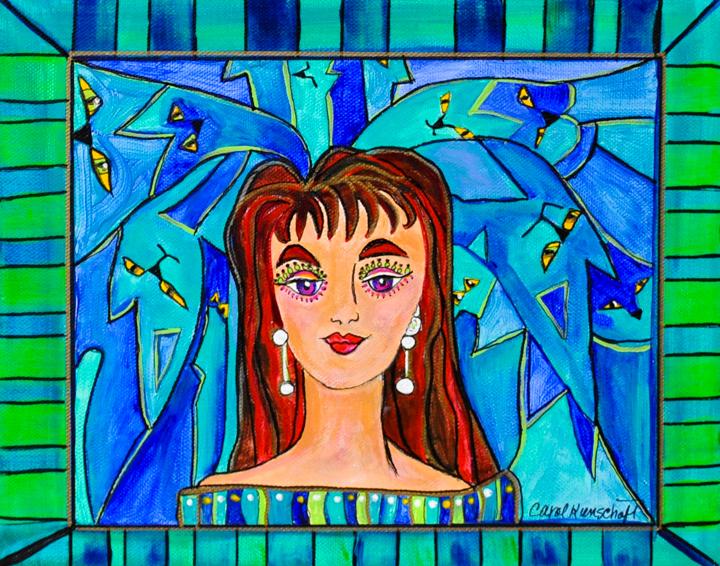 """""""Girl with Pearl Earrings"""" acrylic"""